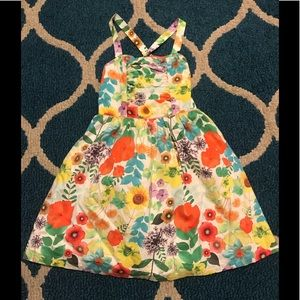 Girl's Summer Floral Dress Size M (7-8)